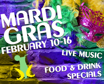 Mardi Gras at Bourbon Street Blues and Boogie Bar!