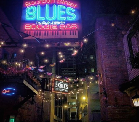 This is a picture of Bourbon Street and Blues Blues and Boogie Bar.